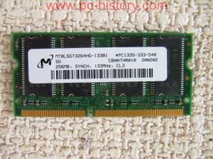256MB-144pin_133MHz_CL3_16x1_SDRAM_SODIMM_Micron